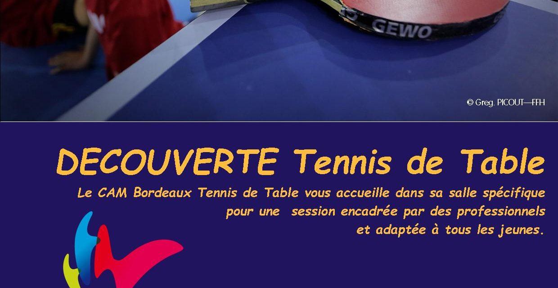 Découverte Tennis de Table