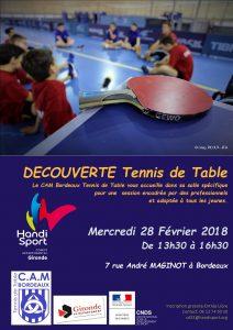 Découverte Tennis de Table @ CAM Tennis de Table  | Bordeaux | Nouvelle-Aquitaine | France