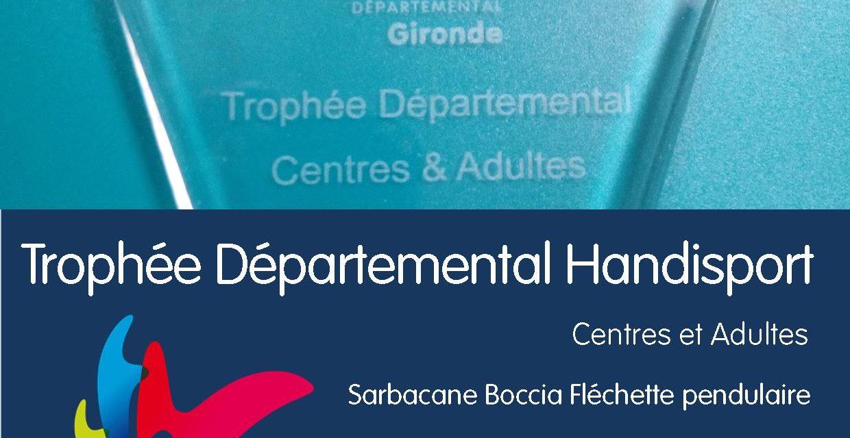 Trophée Départemental Centres et Adultes