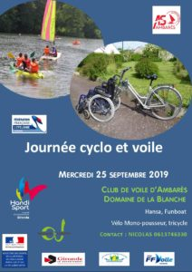 Journée Cyclo-Voile @ Base nautique d'Ambarès et Lagrave | Ambarès-et-Lagrave | Nouvelle-Aquitaine | France