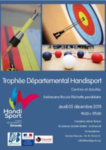 Trophée Départemental Centres et Adultes @ Salle Maurice Maronier | Le Bouscat | Nouvelle-Aquitaine | France